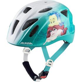 Alpina Ximo Cykelhjälm Barn vit/Petrol